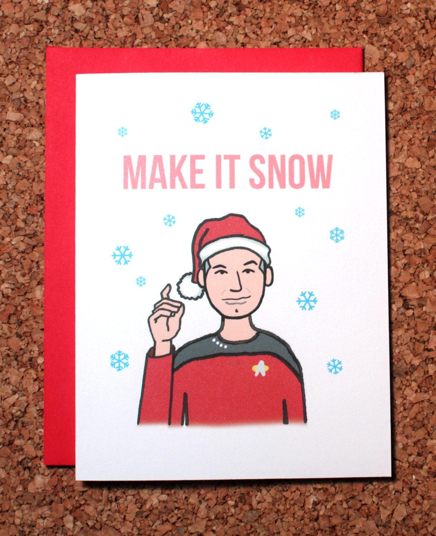 Make It Snow (Inspired by Star Trek) T-Shirt - from TShirtGrill UK
