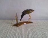 Vintage Souvenir Crane / Crane from horn  / Vintage Souvenir from '80