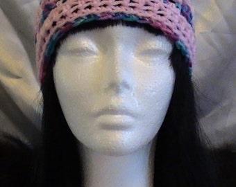 Sweet light pink granny square hat