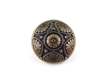 Vintage Style Star Metal Buttons 15mm Bronze Antique Brass Qty 3