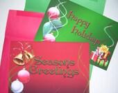 Christmas cards - Christmas - card - Christmas Bells - Christmas Glitter - Xmas