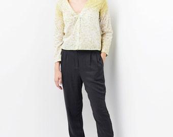 SALE / Women Pants /Gray Pants / Women Trousers/ Pencil Pants /High Waisted Pants / Womens Pants / High Waist Trousers/ Skinny Pants
