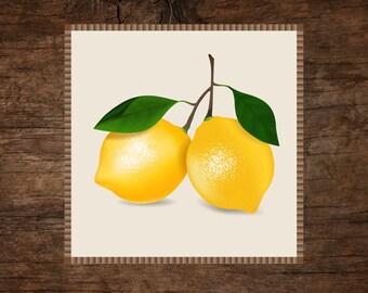 Two lemons (digital illustration) EPS, JPG, PNG