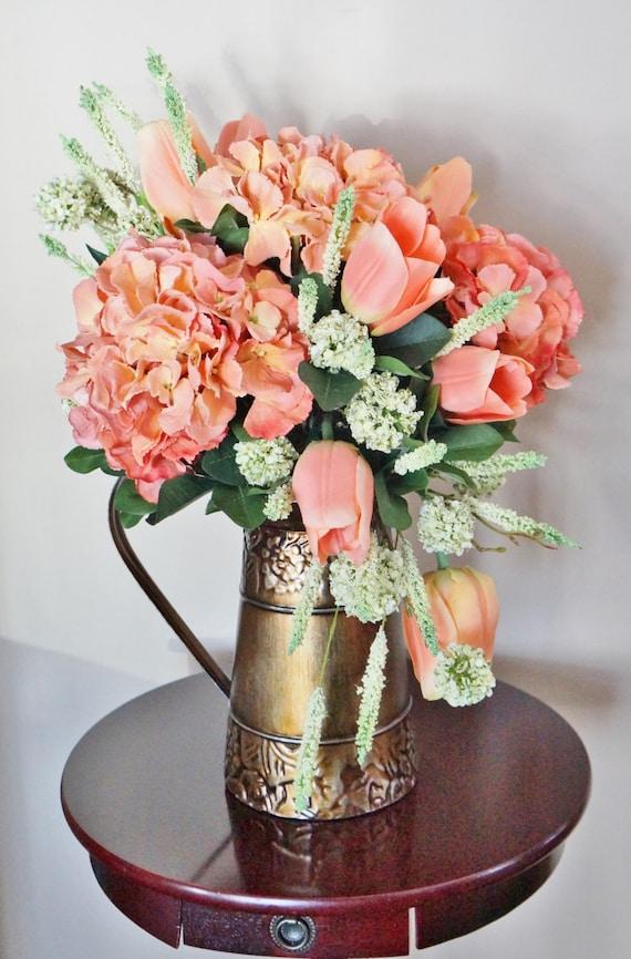 Durazno de flor arreglo decoraci n para el hogar centro for Articulos de decoracion para el hogar online