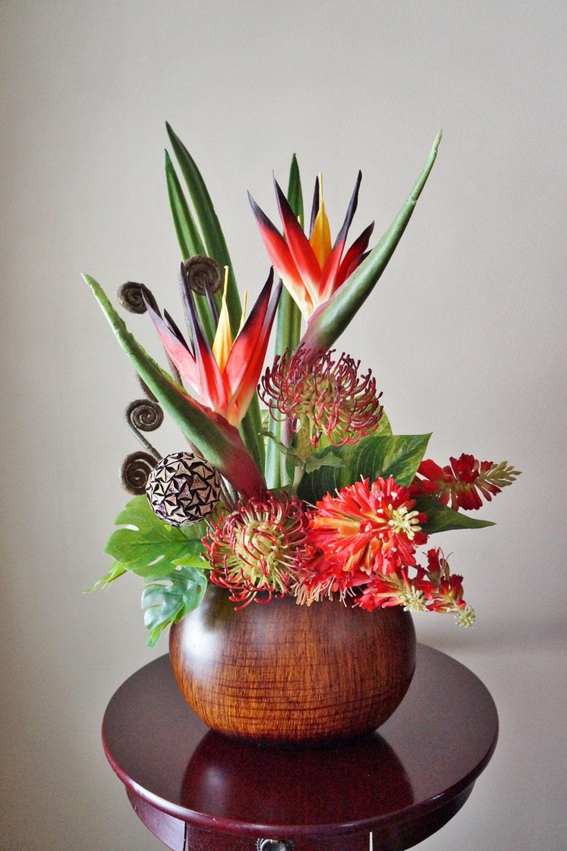 Silk Arrangements For Home Decor Floral Arrangements Birds Of Paradise Protea Home Decor
