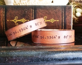 His and Hers Leather GPS bracelet