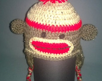 Sock Monkey Hat - Made to Order