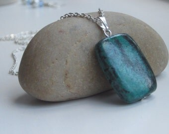 Turquoise necklace, Turquoise jewellery, Silver necklace, Gemstone necklace, silver jewellery, UK Seller, jewellery UK