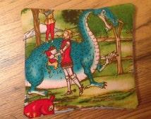 Ten Bean Bags - Wonderful Dragon and Knight Fabric