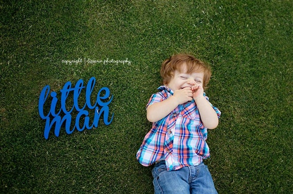 Nursery Decor, Little Man Sign, Little Man Cave, Boy's Room Decor, Little Man Photo Prop,