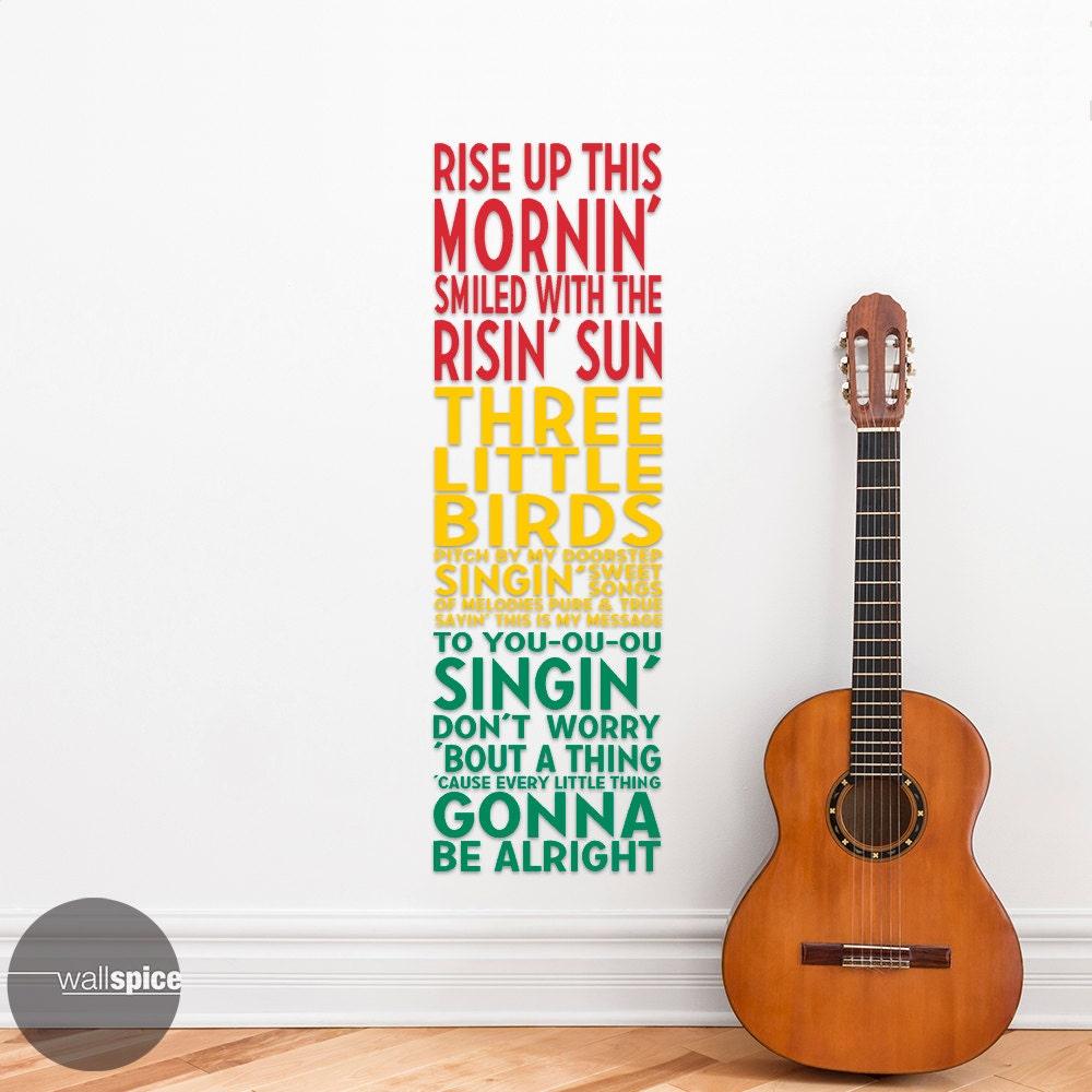 bob marley three little birds song lyrics rastafarian style zoom