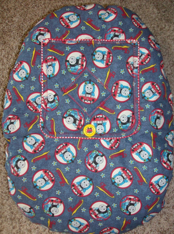 thomas the train snug a bug infant seat cover with button. Black Bedroom Furniture Sets. Home Design Ideas