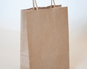 10-pack of Small Kraft Bag with Handle
