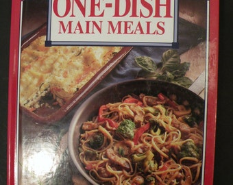 Betty Crocker's One-Dish Main Meals First Edition 1994 Hardcover Cookbook Easy Cooking Like New