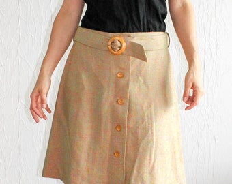 Skirt flared with matching belt from the 1970s