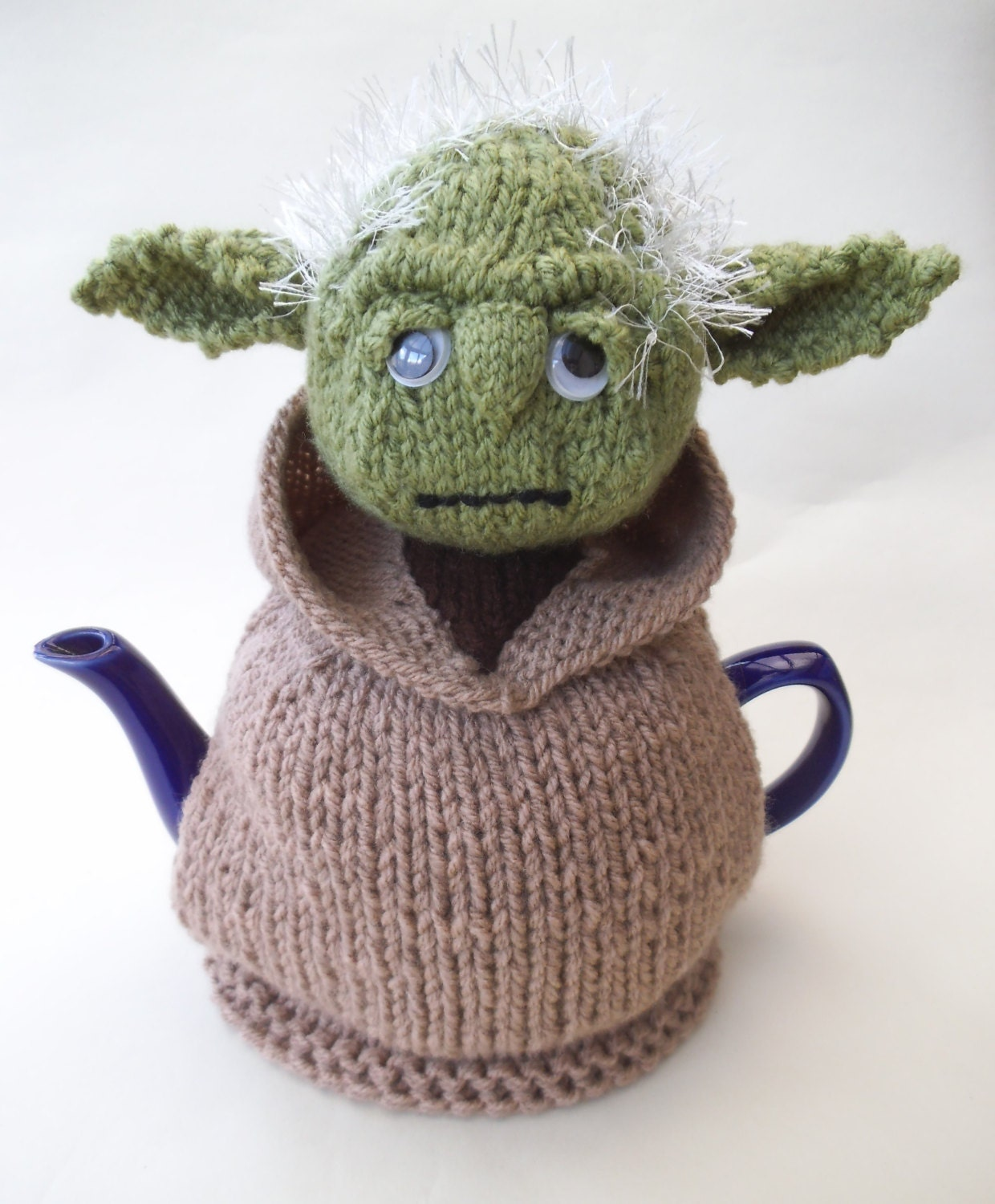 Starwars yoda tea cosy knitting pattern for Tea cosy template