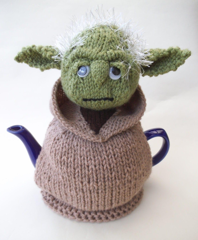 Starwars yoda tea cosy knitting pattern for Tea cosy template