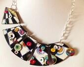 "MAKE TO ORDER, necklace, ""A secret path..."", polymer clay, unique, handmade, original design, hand painted"