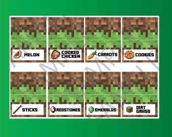 Minecraft Stick Label Food Printables Related Keywords Suggestions