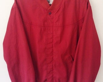 Classic 80's Silton Mens//Womens Red Racer Jacket // Medium