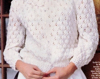 Knitting Pattern For Lace Collar : Eyelet lace collar Etsy