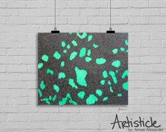 Geometric Art Print - Sea Foam Green Art - Purple Green Art - Abstract Artwork - Modern Home Decor - Sharpie Drawing - Contemporary Art