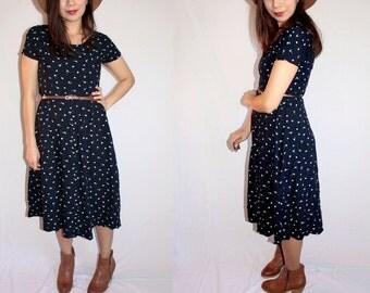 The Quinn- 90's Vintage Daisy Maxi Dress Size M/L