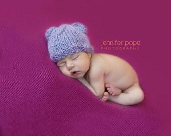 Bear Hat Newborn, Newborn Knit Hat, Alpaca Hat, Photo Prop, Newborn Hat, Newborn, Knit Hat