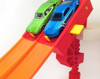 2-Lane Magnetic Start Gate (For Hot Wheels Toy Cars & Race Track)Raceway