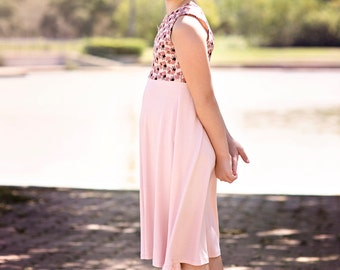 Girls dress, childrens clothing, flower girl dress, pink dress