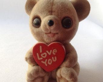Josef Originals I Love You Flocked Teddy Bear