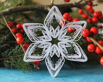 CHAMONIX snowflake - Paper quilled ornament - Christmas decor - Handmade gift