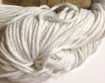 Aslan Trends Pima Clasico Solid cotton worsted weight yarn (01 White)