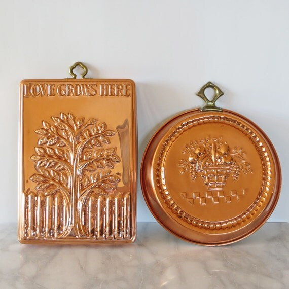 From Musty To Must See Kitchen: Vintage Copper Molds Large Vintage Molds Set Of Two