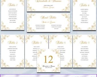 Printable Wedding Seating Chart Template Silver Gray Heart - Wedding invitation templates: seating chart template wedding