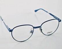 Vintage L'AMY LUNETTES PARIS ladies frame glasses / eyewear / blue purple green / Lamy women eyeglasses