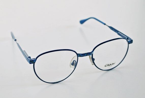 Ladies Blue Frame Glasses : Vintage LAMY LUNETTES PARIS ladies frame glasses