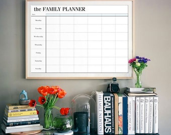 Family Planner Printable, Family Organizer, Weekly Schedule, Wall Calendar, Blank Calendar, INSTANT DOWNLOAD, Digital File, DIY Planner Page