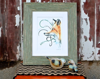 A Serious Fox Fine Art Digital Print