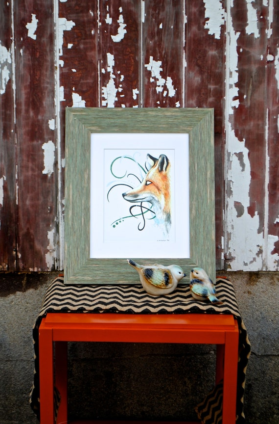 a serious fox fine art digital print. Black Bedroom Furniture Sets. Home Design Ideas