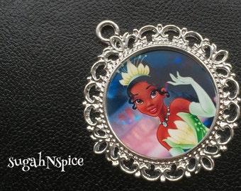 Princess Tiana Pendant - Princess Tiana Necklace - Tiana Necklace - Tiana jewelry - Jewelry