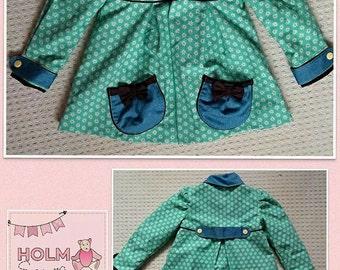 Handmade denim spring coat/jacket.  Age 5