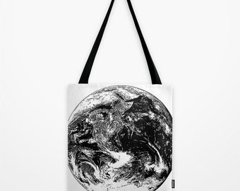 Mother Earth Tote Bag - Planet Print Tote Bag - Book Bag - Eco-friendly Bag - Shopping Bag - Graphic Tote