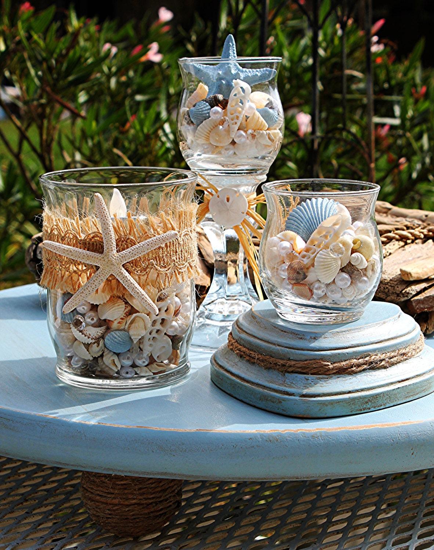 Beach wedding centerpiece decor nautical