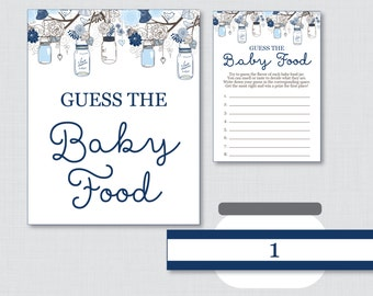 Popular items for food games on etsy for Baby food jar label template