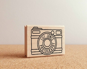 Personalized Custom Photography Rubber Stamp with Camera, Custom Photographer Stamp