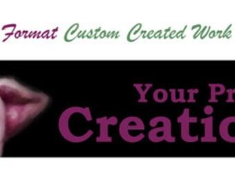 STANDARD FORMAT Custom Created work of art - YG144-31