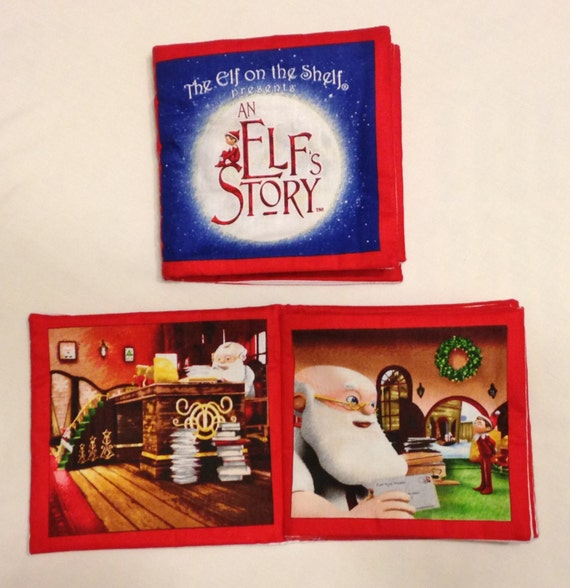elf on the shelf soft fabric book by ranimoocrafts on etsy. Black Bedroom Furniture Sets. Home Design Ideas