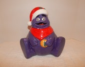 Mc donalds grimace Christmas cookie jar.