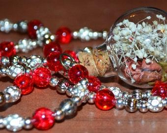 Beaded Fairy Orb Necklace